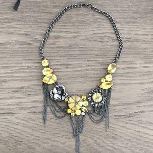 BCBG yellow jewled necklace